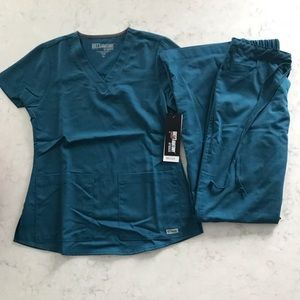 Teal Grey's Anatomy scrub set